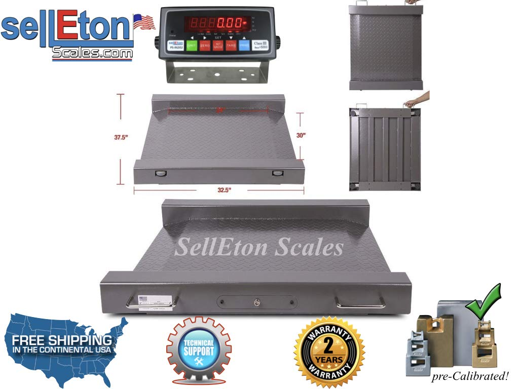Selleton (Legal for Trade) Drum Floor Scale/Easy Ramp Access 1000 X .2 Lb by Selleton