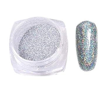 Amazon Com 1 Pcs Chrome Pigment Dust Holographic Nail Art