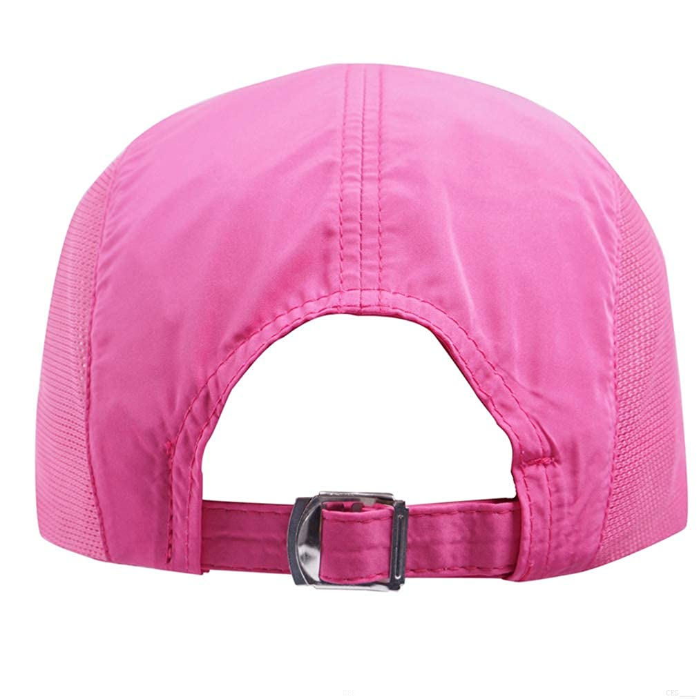 super popular fde3b 8b329 Amazon.com  GADIEMKENSD Quick Dry Sports Hat Lightweight Breathable Soft  Outdoor Run Cap (Classic, Pink)  Clothing
