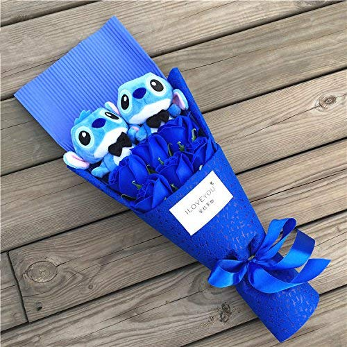 AZOKER Anime Lilo and Stitch Soft Stuffed Animal Dolls Kawaii Stich Plush Bouquets for Kids Birthday Gifts ()