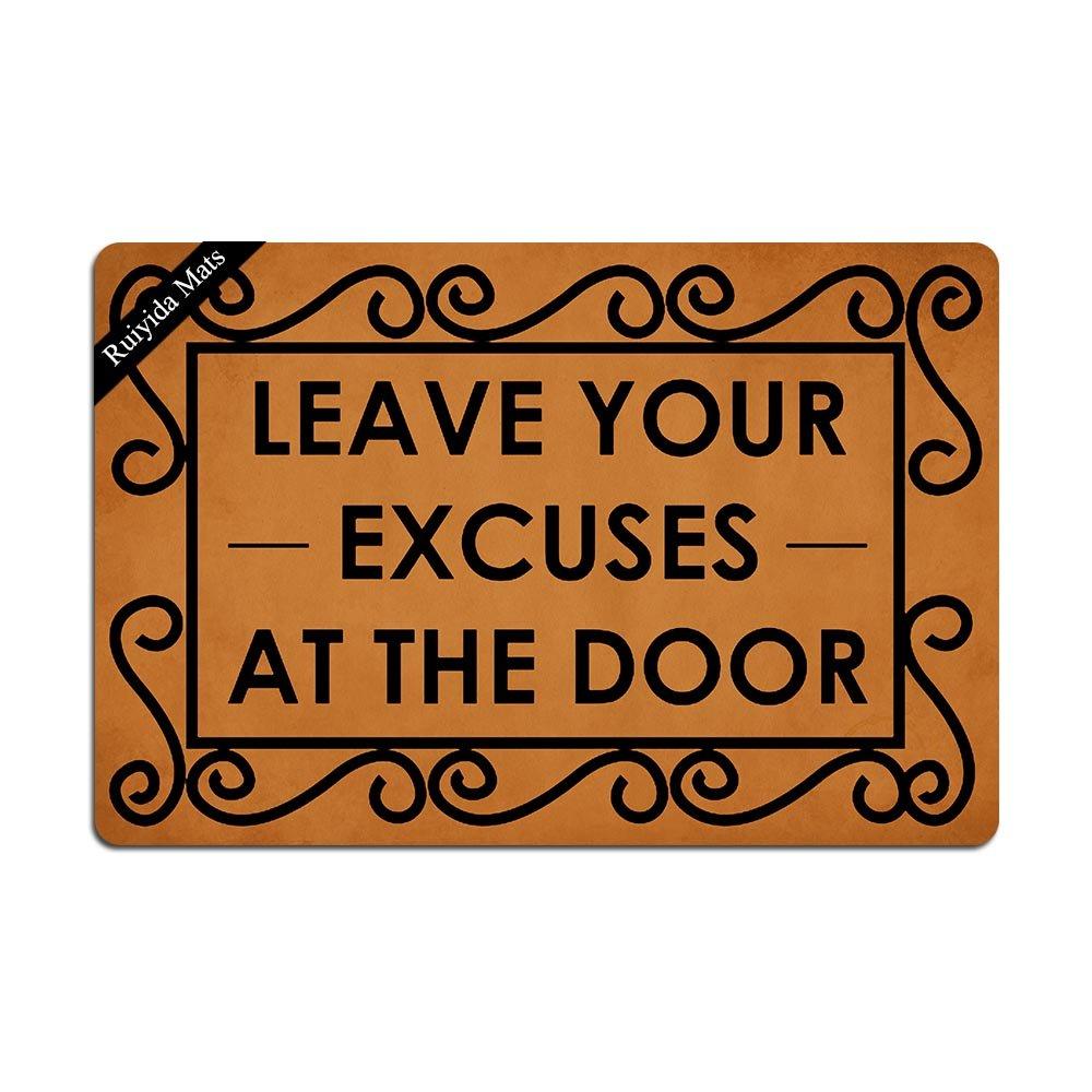 Amazon.com: ruiyida deja tu excusas en la puerta entrada ...