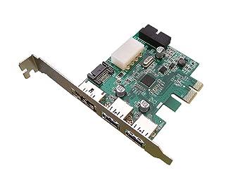 KALEA INFORMATIQUE – Tarjeta PCI Express (PCI-E) a USB 3.0 Cable y alimentación a través de eSATA Cable – 2 + 2 Puertos USB 3.0/1 Puerto POESATA – ...