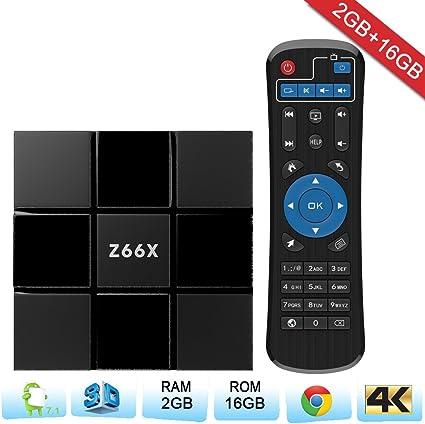 negro viernes] Zenoplige TV Box Android 7.1 Smart TV Box con mando a distancia 4 K reproducción Amlogic s905 W Quad Core 2 G + 16 G H.265 DLNA para casa: Amazon.es: Electrónica