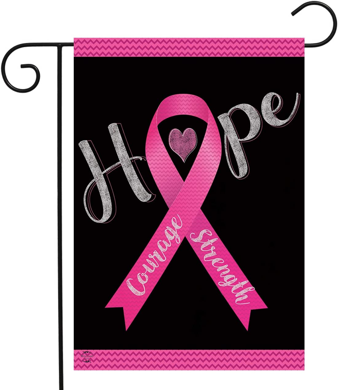 "Briarwood Lane Hope, Courage, Strength Garden Flag Breast Cancer Pink Ribbon 12.5"" x 18"""