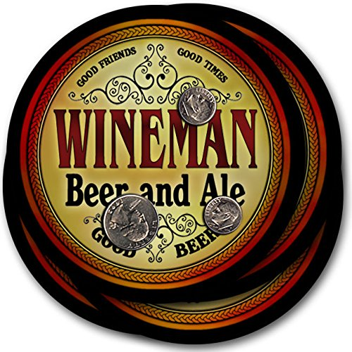Winemanビール& Ale – 4パックドリンクコースター   B003QXWGUA