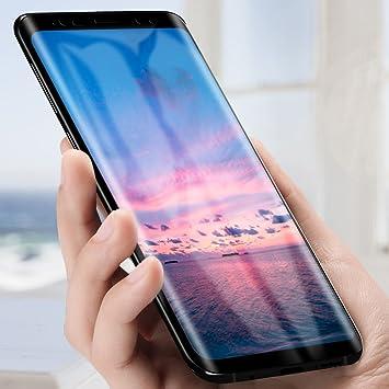 Samione Protector Pantalla Samsung Galaxy S9 Plus, Galaxy S9 Plus Vidrio Templado 0.3mm, 3D Touch 9H Dureza Alta Definicion Cristal Protector de Pantalla para Samsung Galaxy S9 Plus -Negro: Amazon.es: Electrónica