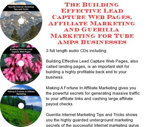 The Guerilla Marketing, Building Effective Lead Capture Web Pages, Affiliate Marketing for Tube Amps ()