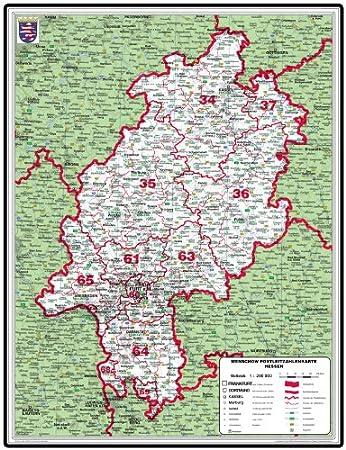 Amazon De Geosmile Xxl Bundeslanderkarte Hessen Mit