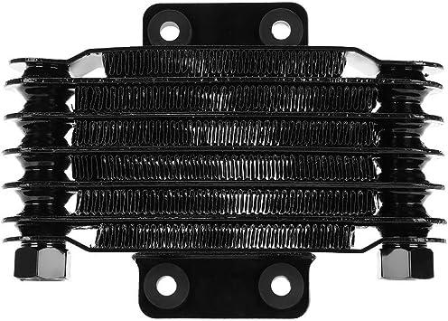 Radiatore olio motore universale Raffreddamento radiatore Radiatore olio motore Kit Black