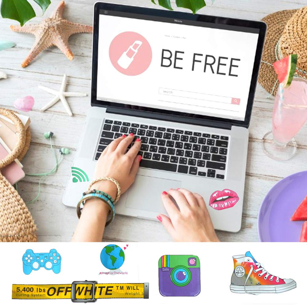 Funny Vinyl Sticker Decal Waterproof for Teens Girls,Computer,MacBook 2Sheet Not Random BW Cute Stickers for Laptop and Water Bottle 40pcs Notebook,Skateboard,Luggage,Snowboard