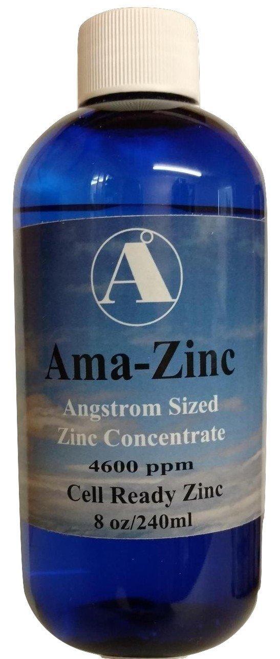 Zinc Supplement- Ama-Zinc by Angstrom Minerals 4600 ppm Elemental Zinc