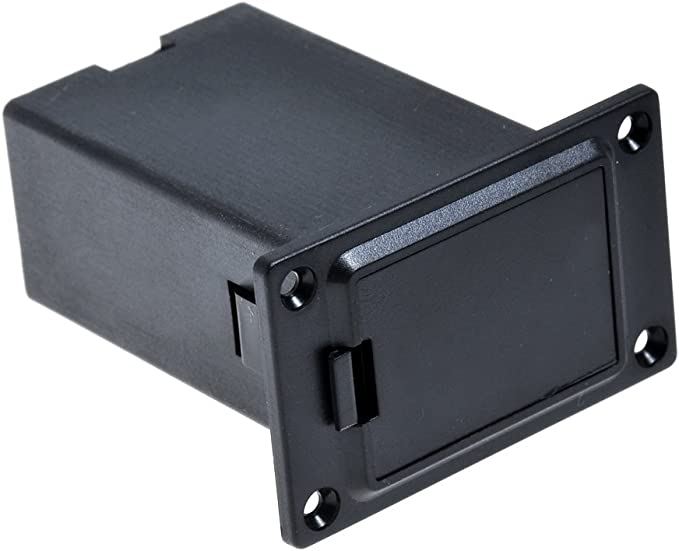 color negro 1 unidad 9/V para guitarras y bajos Kmise Carcasa para compartimento de bater/ía