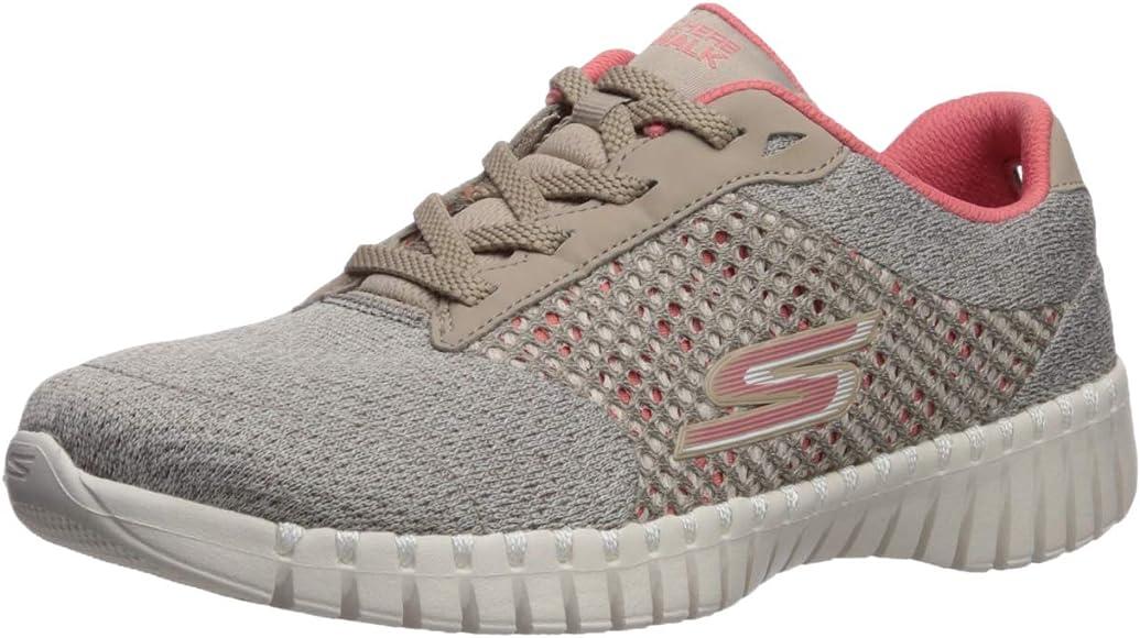 Rizado Honesto Poder  Skechers GO Walk Smart Influence, Zapatillas para Mujer, Topo Beige Textil  Coral Trim Tpcl, 35 EU: Amazon.es: Zapatos y complementos