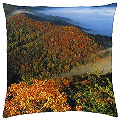 fog in the hills of kentucky - Throw Pillow Cover Case (16