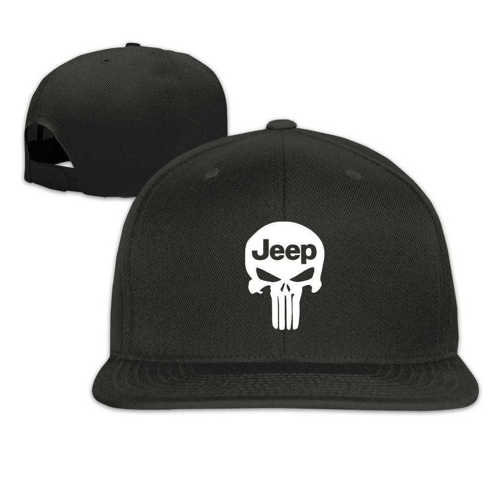 MaNeg Punisher Skull Jeep Unisex Fashion Cool Adjustable Snapback Baseball Cap Hat One Size