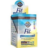 Garden of Life Raw Organic Fit Powder, Chocolate - High Protein for Weight Loss (28g) plus Fiber & Probiotics, Organic…