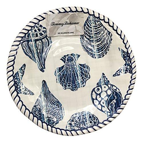 Tommy Bahama Blue Shell Rope Edge Melamine Salad Plates (set of 4)