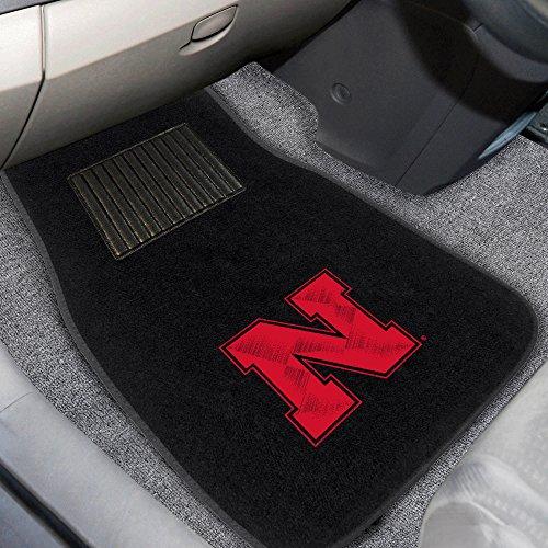 FANMATS 17596 Nebraska 2-Piece Embroidered Car Mat