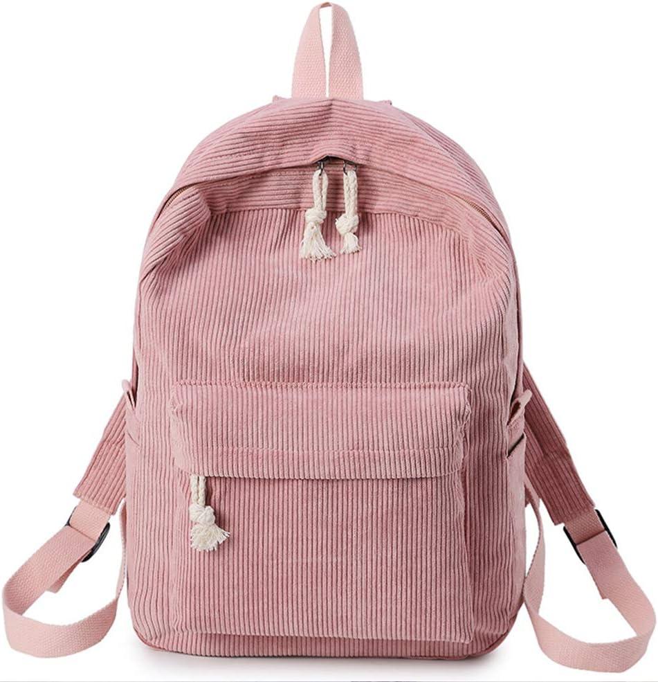 Mochila de terciopelo a la moda, 6 colores, gran capacidad, correa ajustable, ligera, cómoda, bolsa de almacenamiento/piscina para mujeres, niñas, estudiantes, viajes al aire libre, Rosa, Tamaño libre