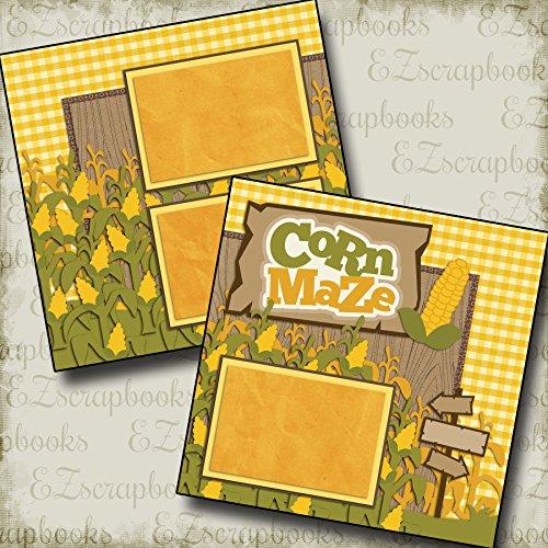 Corn Scrapbook - CORN MAZE - Premade Scrapbook Pages - EZ Layout 2172