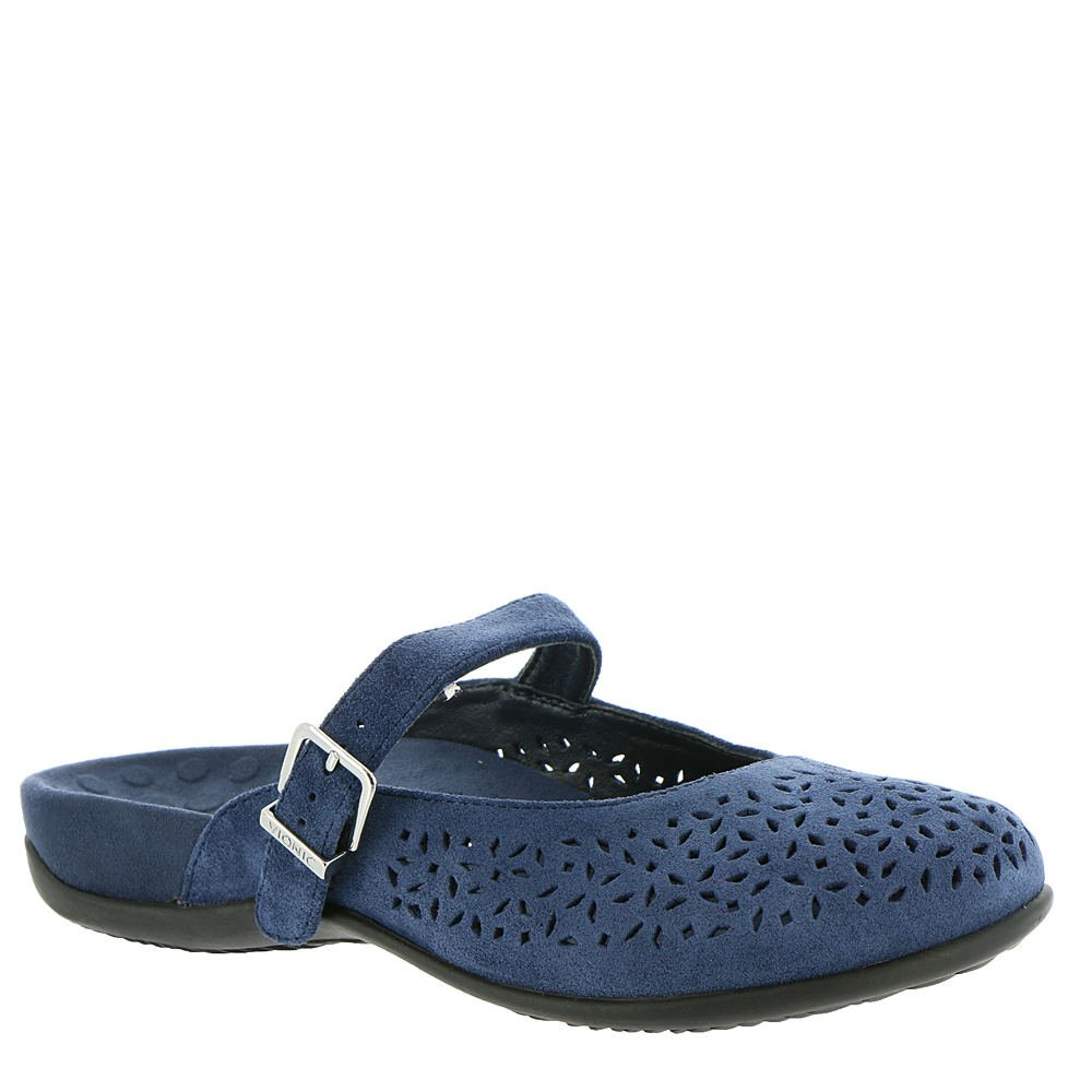 Navy Vionic Lidia - Women's Slip-on Supportive Mule