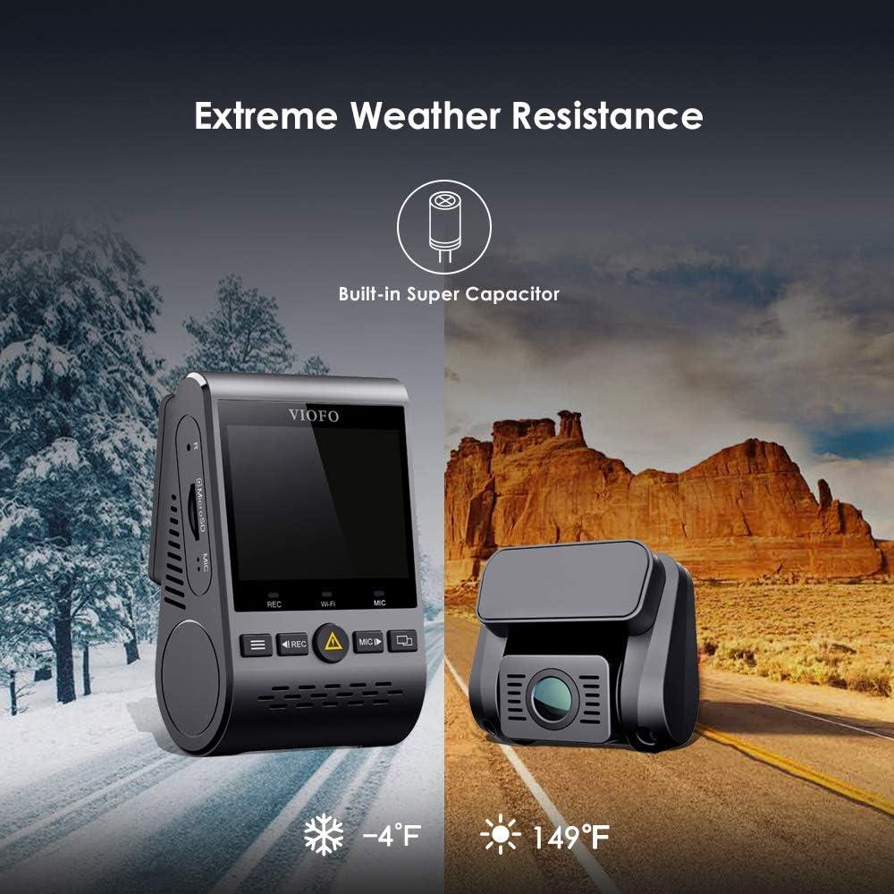 Viofo A129 GPS Dual Lens Dash Cam Full HD 1080P 140/° Wide Angle Dashboard Camera w//GPS Low Light Vision G-Sensor