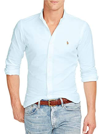 3c4e8bac1985 Image Unavailable. Image not available for. Color  Polo Ralph Lauren Men s Slim  Fit Stretch Oxford Shirt ...