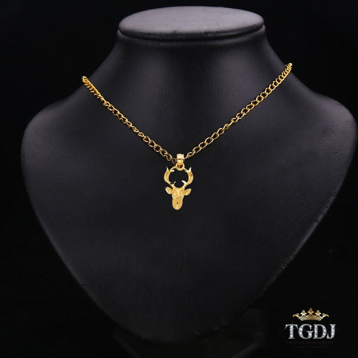 Height 18 MM Width 12 MM 14K Yellow Gold Buck Pendant