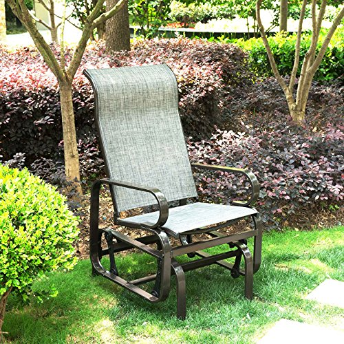CO-Z Gliding Rocking Chair, Steel Frame Patio Gliders, for Outdoor Garden Backyard Lawn