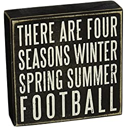 "Primitives by Kathy Box Sign, 6 by 6"", Football"