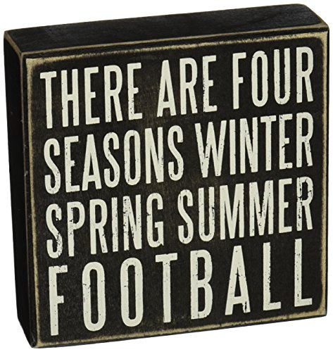 """Primitives by Kathy Box Sign, 6 by 6"""", Football"""