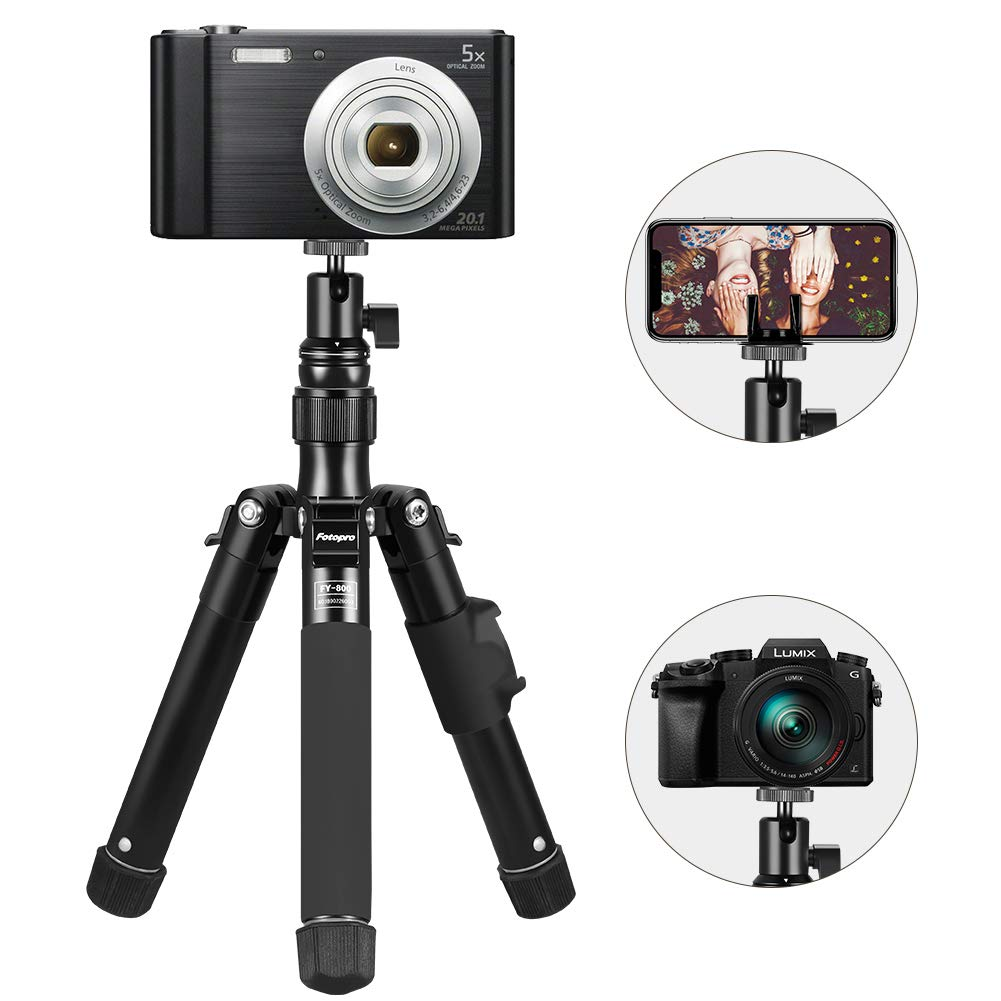Fotopro Selfie Stick Tripod, Extendable Selfie Stick Tripod with Phone Mount for Smart Phone and Camera by Fotopro