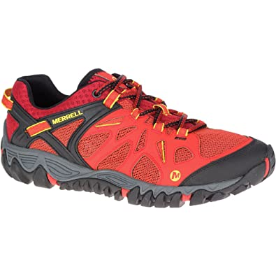 e61b7b2e877 Merrell Mens All Out Blaze Aero Sport Vented Trail Running Shoes ...