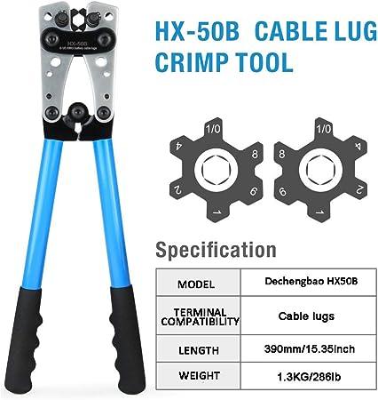HX-50B Batteriekabelschuh Crimpzange Handelektrikerzange Für Crimpen 6-50mm²