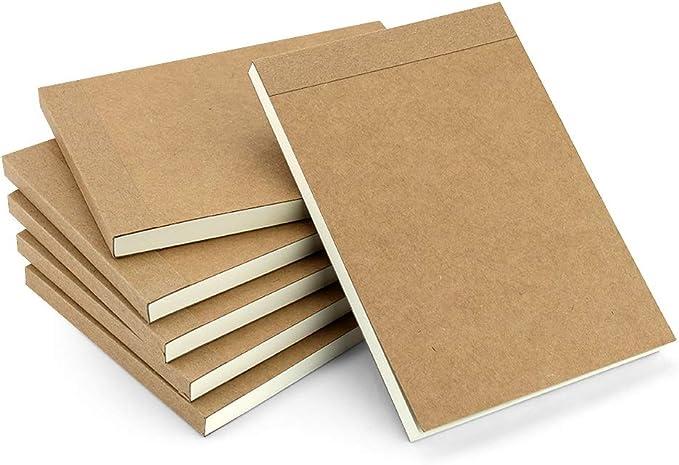 VEESUN Bloc de Dibujo A6, 6pcs Libreta Pequeña Diarios Cuaderno de Notas en Blanco para Escolar Escribir Professor Viajes o Como un Diario, 14.5 x 10.5cm: Amazon.es: Oficina y papelería