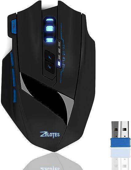 Gamer Portable fil Mouse 4G Gaming Souris 9 touches sans 2 ECHTPower LED Gamer PC Lumières Optique PCOrdinateur USB avec pour uTFcKl51J3