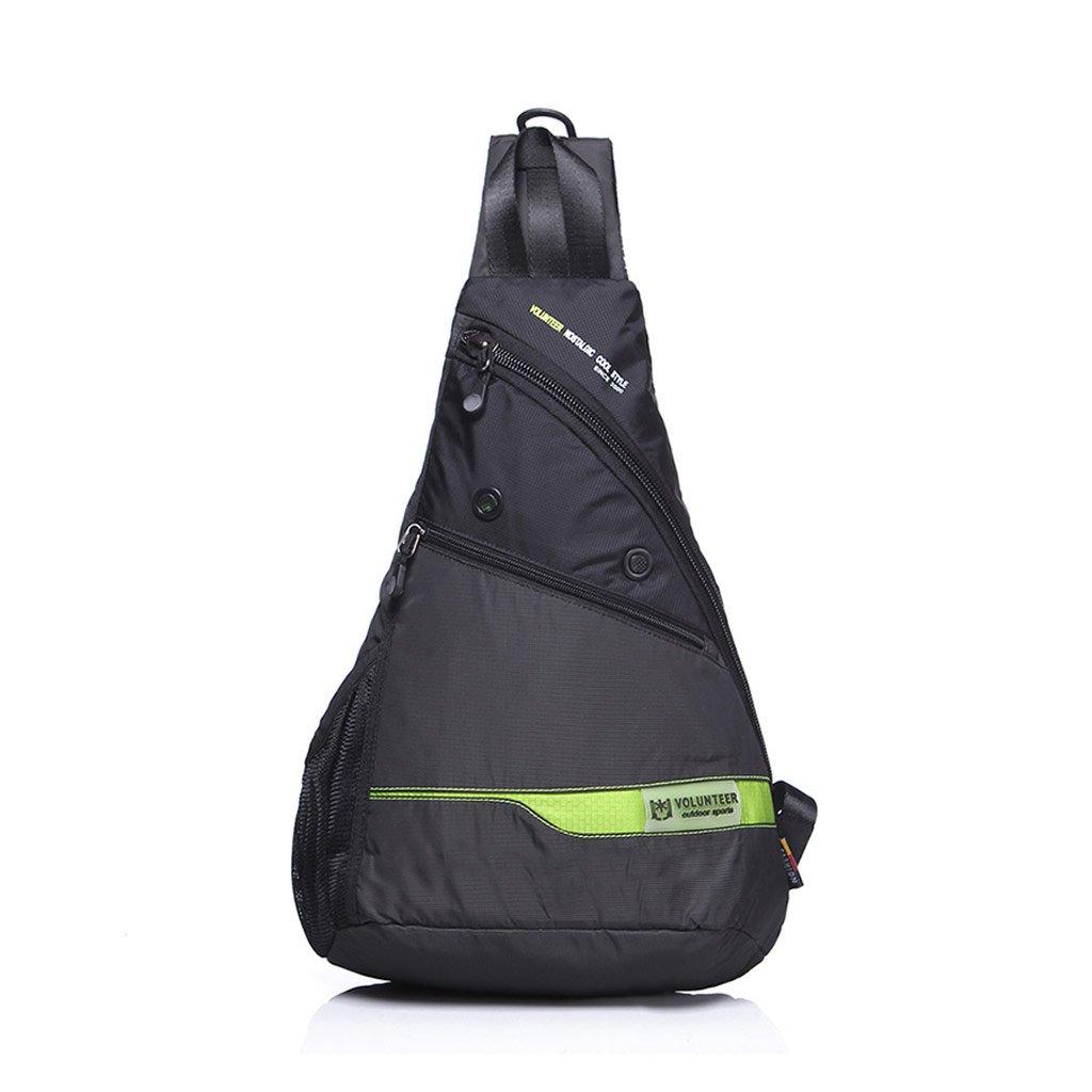 大きな胸袋男性の韓国語バージョンの潮袋防水オックスフォード布レジャーキャンバスバッグ大容量バックパックバッグ男性 (色 : ブラック) B07F1N15BN ブラック ブラック