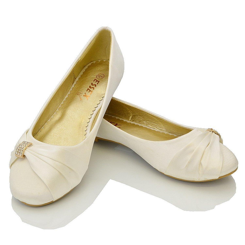 Womens Bridal Wedding Satin Pumps Ladies Slip On Prom Bridesmaid Pumps  Shoes Size 3 4 5 6 7 8 9: Amazon.co.uk: Shoes & Bags