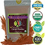Divine Organics Raw Cacao Powder/Raw Cocoa Powder - Certified Organic - Premium Rio Arriba - Smoothies, Hot Chocolate, Baking, Shakes, Add to Coffee - Rich in Magnesium (32oz)