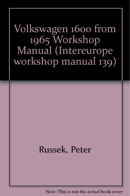 Volkswagen 1600 from 1965 Workshop Manual