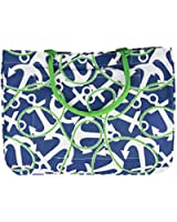 Mudpie Day Tote Navy Anchors