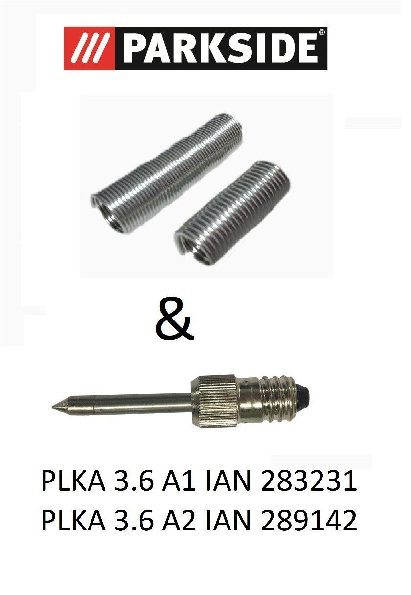 Parkside Juego Estaño (2 x 10g) + 1 punta para Parkside batería Soldador plka 3.6 A1 Ian 283231 y plka 3.6 A2 Ian 289142: Amazon.es: Bricolaje y ...