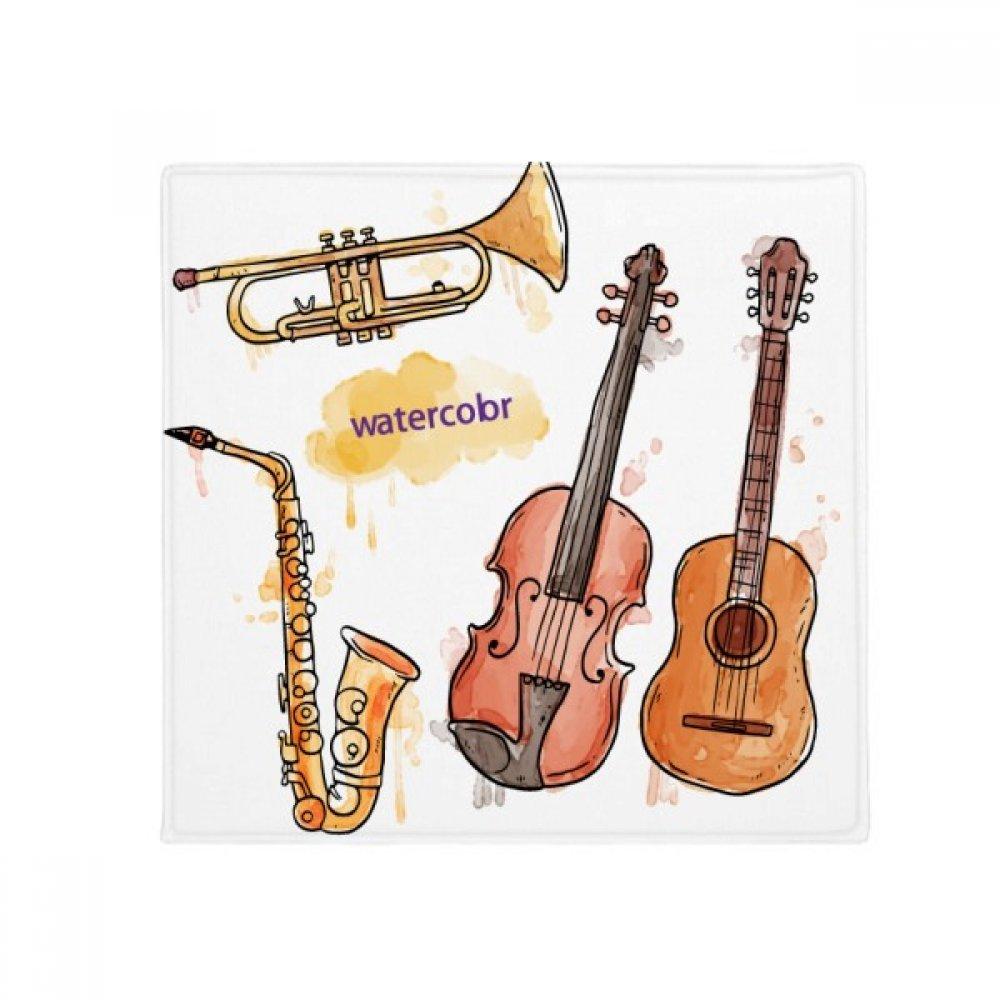 DIYthinker Watercolor Instrument Combination Music Pattern Anti-Slip Floor Pet Mat Square Home Kitchen Door 80Cm Gift