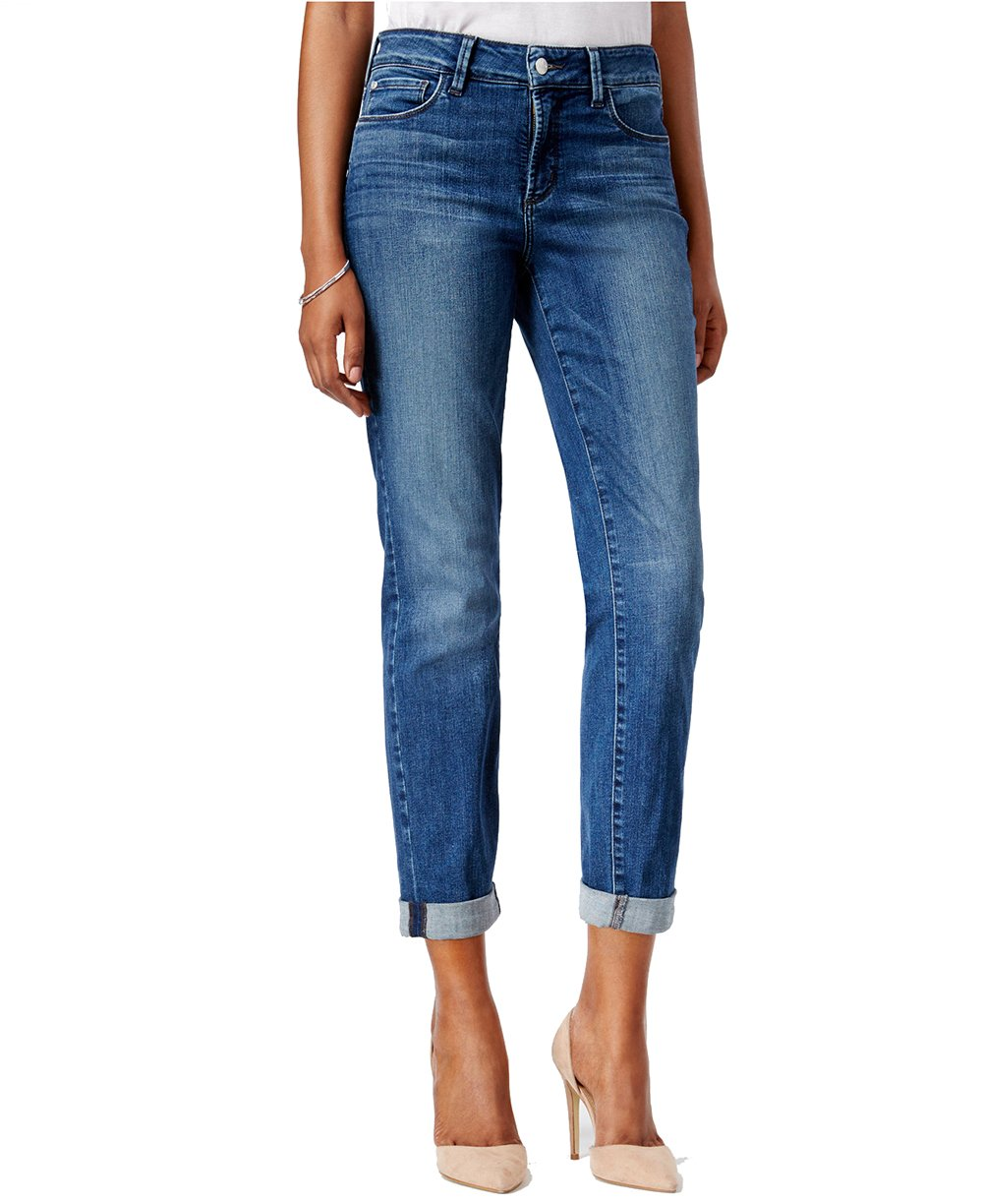 NYDJ Women's Sylvia Heyburn Wash Boyfriend Jeans (8, Mayfair Clean)