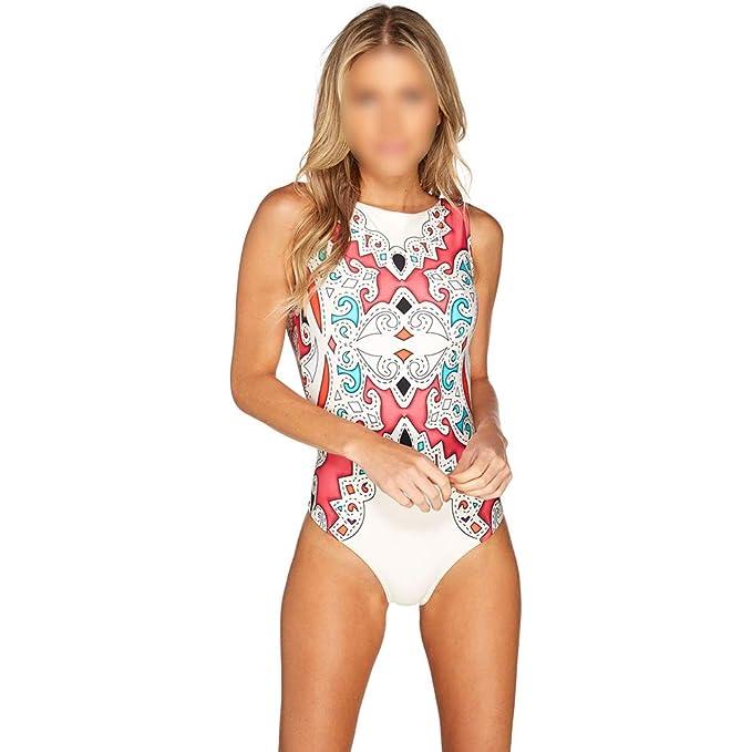 a09657db85cd0 GULUDED Multi-Color Printing One-Piece Swimsuit Bikini Swimsuit Women's  Swimwear at Amazon Women's Clothing store: