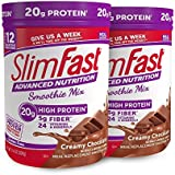 Schlank Fast Advanced Nutrition High Protein Smoothie Powder, Creamy Chocolate, 11.01 oz Canister (Pack of 2)
