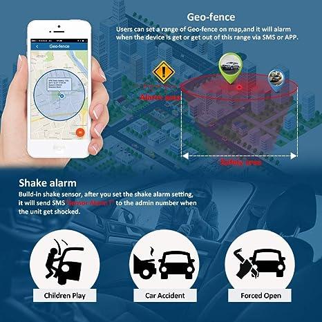 120 D/ías largo inactivo Localizaci/ón GPS el agua resistente al tiempo real Tracking GPS Locator profesional Anti antirrobo de alarma de p/érdida de GPS Tracker para coche magn/ético GPS Tracker Auto