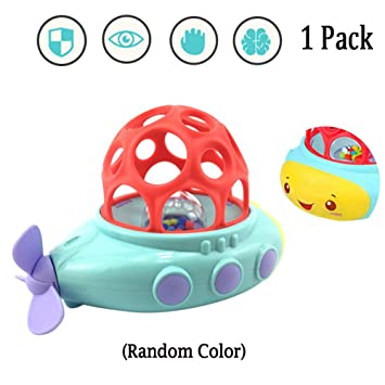 Amazon Com Sealive Clockwork Submarine Rotating Baby Bathtub Bath Toy Swimming Pool Water Funtime For Baby Shower Gift 3 Months Old Up Random Color