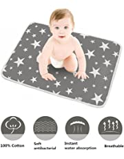 """Conleke Baby Changing Mat,Unisex Baby Waterproof Diaper Changing Pad with Large Size Portable Sheet for Any Places for Home Travel Bed Play Stroller Crib Car - Mattress Pad Cover for Boys and Girls (S-Grey,20""""x28"""")"""