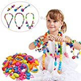 Snap Pop Beads Girl Toy - Happytime 180 Pieces DIY Jewelry Kit Fashion Fun for Necklace Ring Bracelet Art Crafts Gift Toys for Kids Girls